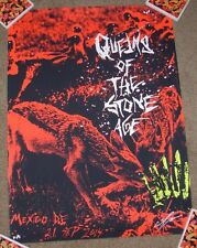 QUEENS OF THE STONE AGE concert gig poster MEXICO CITY 9-21-14 2014 mercadorama