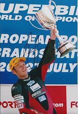 Shane BYRNE 12x8 SIGNED Podium Photo Superbike Champion Autograph AFTAL COA