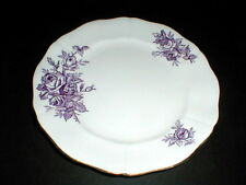 Adderley English Bone China Lawley #H1328 Purple Roses Salad Plate