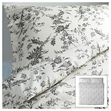Ikea Alvine Kvist 3pc Set Duvet Quilt Cover French Country Gray Toile Roses New