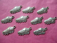 Tibetan Silver Football Boot Charm - 10 per pack - sport/male themes