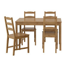 JOKKMOKK Wooden Dining Table & 4 Chairs,Solid Pine,Antique Stain,Fast Delivery