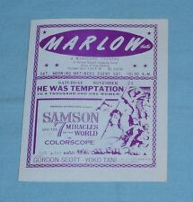 original MARLOW (Wineland) movie theater handbill The Incredible Journey Tarzan