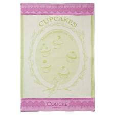 Coucke French Jacquard Cotton Kitchen Dish/Tea Towel, Cupcakes