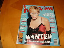 Andy Warhol's Interview 2/97 Sharon Stone Cover Tupak Kevin Spacey Den Rodman VF