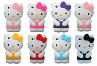 Hello Kitty Cute Silicone Soft Rubber Gel 3D Case For iPhone 4,4S,5,5S UK Seller