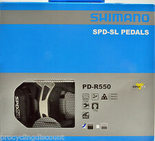 NEW 2016 Shimano PD-R550 SPD SL Road Pedals & SM-SH11 Floating Cleats: BLACK