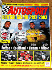 Autosport 2003 BRITISH GP GUIDE - Mark Webber, Ralph Firman features