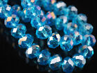 NEW !!!! Lake Blue AB Crystal Loose Beads 4x6mm /6x8mm