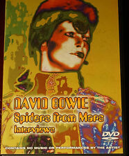 Rare David Bowie Spiders from Mars Interviews Region 0 DVD 102 MINS
