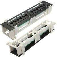 CAT5e 12 Port Pro RJ45 Network Patch Panel w/Surface Wall Rack & Mount Bracket