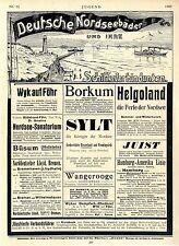 Deutsche Nordseebäder u.Schiffsverbindungen Borkum Westerland-Sylt Helgoland1906