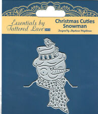 Special Purchase ESSENTIALS TATTERED LACE - CHRISTMAS CUTIES SNOWMAN ETL150