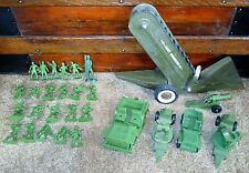 VTG STRUCTO USA ARMY ENGINEERS ROAD WORK VEHICLE + MEN MARX PLASTIC SOLDIERS +