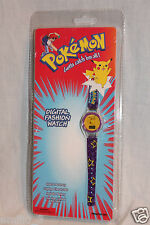 NEW IN PACKAGE 1998 POKEMON PIKACHU COLLECTIBLE DIGITAL FASHION WATCH