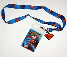 SUPERMAN The Man of Steel DC Comics Superhero ID HOLDER LANYARD with CHARM New