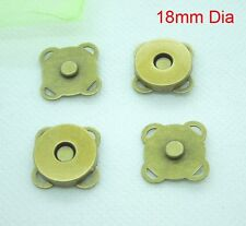12sets 18mm  Bronze Magnetic Snaps Bag Purse Sew On Magnetic Snaps Buttons