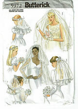 BUTTERICK PATTERN 5972 BRIDAL HEADPIECES AND VEILS, ALL SIZES