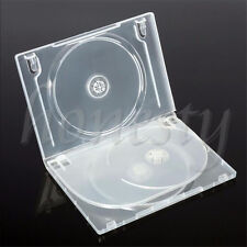 1pc Standard Clear 3 Disc Holds DVD CD Case Movie Box Storage Holder Cover 14mm