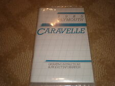 1985 Plymouth CARAVELLE Operating Instructions & Product Information - Booklet