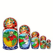 Poupée Russe 5 pieces Conte russe cadeau Enfant, Poupée Russe Matriochka