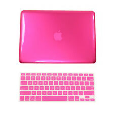 "2 in 1 HOT PINK Crystal Hard Case for Macbook PRO13"" A1278 with Keyboard Cover"