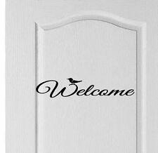 Benvenuto PORTA ANTERIORE / Hall Decalcomania Segno Adesivo Vinile, negozio, Hotel, Casa, Amore, decor