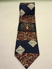 Tabasco Pepper Sauce, Gulf Shrimp 100% Silk Necktie