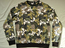 *DEFECT* VALENTINO CAMO DOVE PRINT SWEATSHIRT CAMOUFLAGE BIRD JUMPER SIZE XL TOP