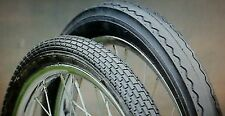 "2NEW 20"" STINGRAY MUSCLE BIKE BLACKWALL  TIRE SET 1 BRICK PATTERN & 1 SLICK"