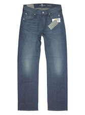 $198 NEW 7 For All Mankind Men's Austyn Relaxed Straight Leg Ether Blue, 29 x 32