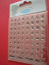 Me to you TINY TATTY TEDDY  CLEAR ALPHABET STAMP SET, BOY COLLECTION,FOR CARDS,