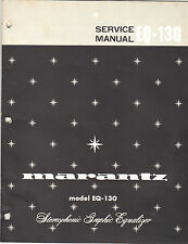 Marantz Service Manual Model eq-130 Original Paper Printed Factory Repair Book