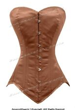 26 Double Steel Boned Waist Training Satin Long Overbust Shaper Corset 8151OT-DB