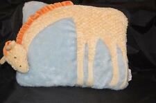Russ Giraffe Yellow Orange Blue 9x12 Pillow Baby Room Decor Plush Stuffed Toy