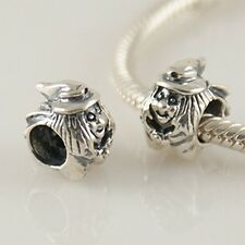 WITCH-Old woman-Halloween-Fantasy- Solid 925 sterling silver European bead charm