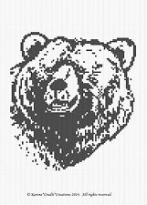 Crochet Patterns - GRIZZLY BEAR Graph Afghan Pattern Chart