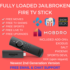AMAZON FIRE TV STICK JAILBROKEN TVADDONS 16.1 MOVIES TV PPV SPORTS FULLY LOADED