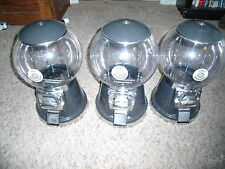 Three 50 cent Black Globe Heavy Commercial Grade Gumball Machine for candy  Key