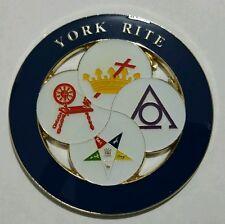 Freemason York Rite Ladies Car Emblem