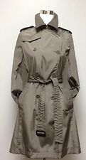 BANANA REPUBLIC trench coat Women's Size S greige raincoat belt double breasted
