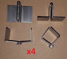 4 pc .062 Steel 90° Formed/Bend Butt Hinge 1.5 Continuous Door/Sheet Metal/Wood