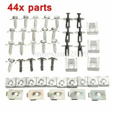 44x Parts Engine Under Cover Splash Guard Undertray Screw Trim Clips For BMW E46