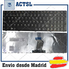 Keyboard Spanish for LENOVO IdeaPad B570E Black Frame Black