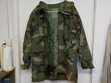 USGI Woodland Camo Parka, Improved Rain Suit, Large w/ cold weather liner