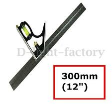 Adjustable 300mm Engineers Combination Try Square Set Ruler Angle Spirit Level