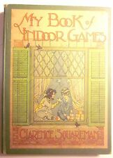 Vintage MY BOOK OF INDOOR GAMES by Clarence Squareman (Whitman/1916/120 pp) FAIR