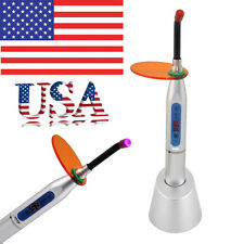 USA Ship Dental 5W Wireless Cordless LED Curing Light Lamp 1500mw SILVER CE FDA-