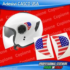2 Adesivi Resinati Stickers 3D Flag Bandiera USA per casco