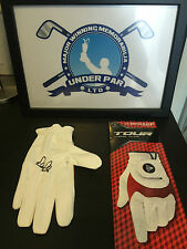 ROBERT ROCK HAND SIGNED GOLF GLOVE DUNLOP WITH COA